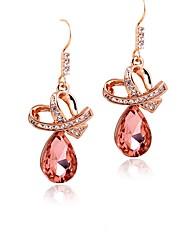 Beles Women's Elegant Crystal Stud Earrings