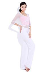 Yoga Casual Sportswear Suits 3 Sätze (Rope Kurzarm Yoga T-Shirt + Yoga Pants)