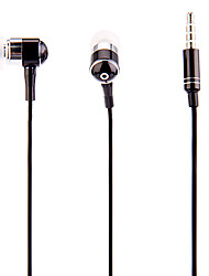 J903 3,5 milímetros elegante Zipper Headphone In-Ear com microfone (preto)