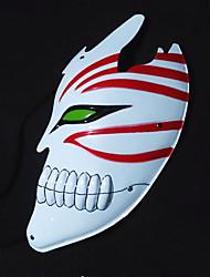 Masque Bleach Ichigo Kurosaki Anime Accessoires de Cosplay Blanc / Rouge Cuir PU