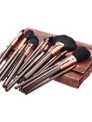 22Pcs Cosmetic Brush Tools with Animal Print Pouch