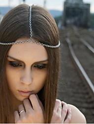 Cadeia étnica Com Tessel liga de ouro Headbands Para Mulheres (Gold, Sliver) (1 Pc)