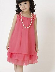 Girl's Solid Dress,Chiffon Summer