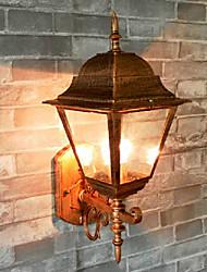 Outdoor Wall Light, 1 Luce, Pittura Classic Vintage Alluminio Vetro
