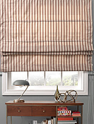 Retro Country Style Striola Pattern Eco-friendly Roman Shade