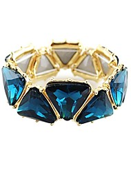 Refined Atmosphere Shiny Triangular Gemstone Stretch Bracelet