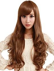 Ролл монолитным сторону взрыва Синтетический Стильные длинные волнистые парики 3 варианта цвета