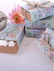 """Around the World"" Favor Mapa Box (conjunto de 12)"