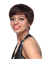 Hair  Fashion Inclined  Bang  Short    Human   Hair   wig
