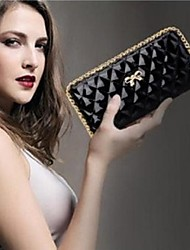 Fashion  Long Style Lady Clutch Wallet Bow Design
