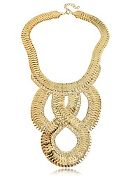 Yumfeel Women's Exaggerate Metal Link Necklace