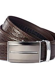 Evergold Hombres Estilo negocios de Split Leather automática hebilla de cinturón de