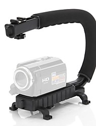 C Forma de Vídeo Estabilizador Handle Monte aperto para DV DSLR Camera