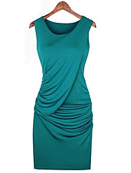 Yifei Women's Europe And America Stars Fashion Show Temperament Dress(Blue)