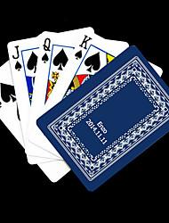 Cadeau personnalisé bleu Vine Motif Carte de jeu pour Poker
