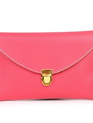 Women PU Casual Clutch White / Beige / Pink / Blue / Green / Yellow / Orange / Brown / Red