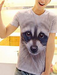 Animais 3D T-shirt de impressão dos homens