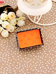 Stainless Steel Rectangular Stamp Shape Spring Type Embossed Cookie Mold(Random Color)