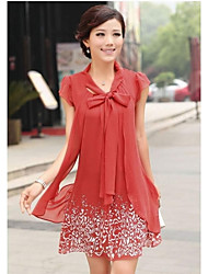 Fashion High-end Temperament Chiffon Loose Waist Dress