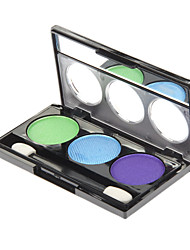 3 Lidschattenpalette Schimmer Lidschatten-Palette Puder Normal Alltag Make-up / Party Make-up