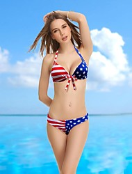 VBM Brand Women's New Arrival USA Flag Push-up Underwire New Arrival Swimwear Swimming Suit Bikini
