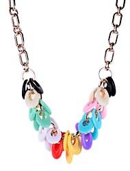 Teardrop Resin Beads Drop Necklace