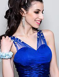 "Wedding Flowers Round Wrist Corsages Wedding / Party/ Evening Blue Satin Blue 4.72""(Approx.12cm)"