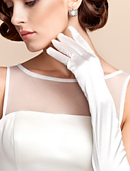 Opera Length Fingertips Glove Satin Bridal Gloves / Party/ Evening Gloves Spring / Fall / Winter White / Ivory
