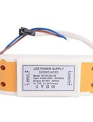 (18-25) X1W conductor de la fuente del convertidor de fuente LED para la luz de techo (60-90V, 300mAh)