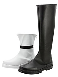 Vocaloid - Enmyochiryo - IA Black & White PU Leather Cosplay Boots