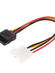 4 Pin IDE de 15 pines de serie SATA Power Cable HDD ATA (0,15 M)