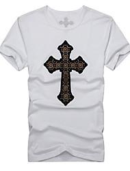 Cruz Moda T-shirt de impressão dos homens