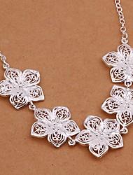 Meles 925 Silver Originality Flower Shape Necklace