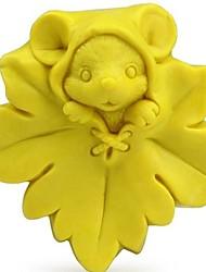 souris d'érable en forme de moule de cuisson, W7.5cm x L7.5cm x H4cm