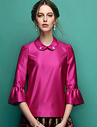 Women's Tops & Blouses , Satin Casual/Work JIUYI