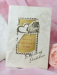 Convite estilo europeu do projeto do coração do casamento - conjunto de 50