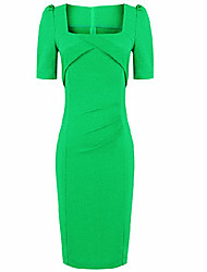 CD Designing 1/2 Sleeve Dress(Green)-H1035