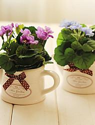 """6.5 """"h mini begonia bloemstuk (blauw)"""