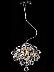 Araña de cristal de E27 5W LED de luz colgante de lujo para Comedor Salón Comedor Iluminación