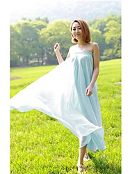 Women's Summer New Pleated Bohemian Chiffon Long Skirt