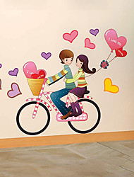 Cartoon Bicycle Decorative Stickers