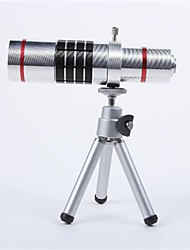 Алюминиевый сплав Набор 18X телефото зум-объектив для SAMSUNG S4 - Серебро