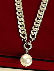 Shadela Silver Pearl Fashion Collier CX128-2