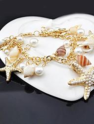 z&x® 30cm de cauris douces femmes que la chaîne en alliage d'image& lien bracelet (1 pc)