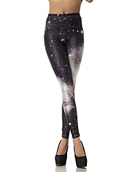 Elonbo The Milky Way's Black Gray Sky Style Digital Painting Tight Women Leggings