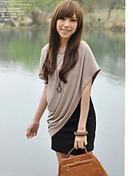 Contraste Trajes color flojo de vestir de mujer (vestido + blusa)