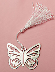 Metal Butterfly Bookmark With Silk Tassel Wedding Favor