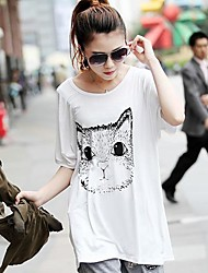 Women's High Quality Print   Short Sleeve T-Shirt Modal Stretch Loose Big Yards  T-Shirt