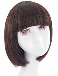 Korea Capless Short Straight Synthetic Full Bang Wigs