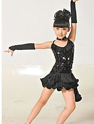 Girl's Fashion Sequin Latin Dresses  Lovely Princess   Dresses